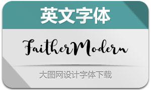 FaitherModernBrush(英文字体)