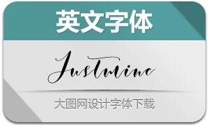 JustmineModernScript(英文字体)