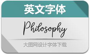PhilosophyScript(英文字体)