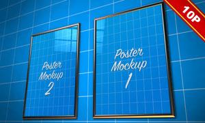 挂墙上的质感装饰画贴图模板源文件