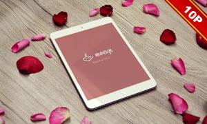 情人节氛围下的数码产品贴图源文件