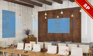 房间墙壁装饰挂画贴图模板设计素材