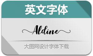 Aldine(花体手写艺术英文字体)