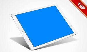 黑白两款iPad Pro贴图模板设计素材