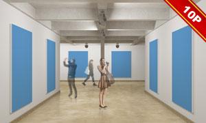展览活动现场布置贴图模板设计素材