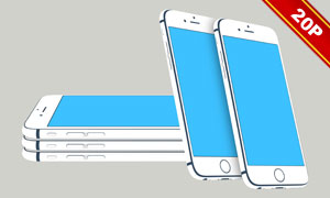 扁平化风格iPhone6贴图模板源文件
