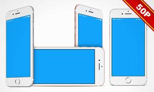 iPhone7系列产品组合展示贴图模板