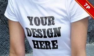 女生吊带衫短袖衫与套头衫贴图模板