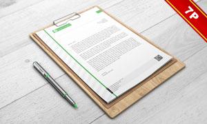 名片与A4规格的纸张贴图效果源文件