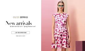 天猫夏季女装新品海报设计PSD素材