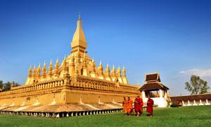 老挝万象塔銮景观风光摄影高清图片