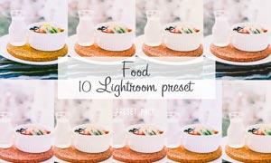 10款食品照片美化调色效果LR预设