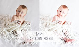宝宝照片美白肤色效果LR预设