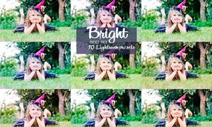 10款儿童照片色彩明亮效果LR预设