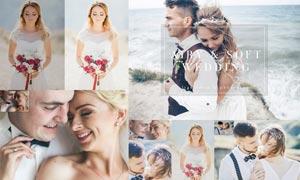 婚礼照片后期甜美暖色效果LR预设