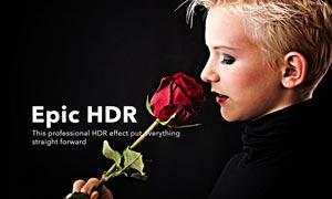 史诗级人像HDR艺术效果PS动作