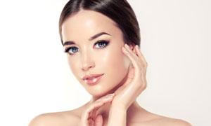 面部肌肤护理主题美女摄影高清图片