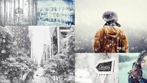 冬季唯美的下雪GIF动画效果PS动作