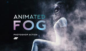 大师级人像添加雾气动画特效PS动作