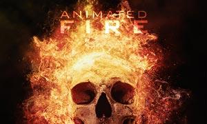 照片被火焰燃烧动画特效PS动作