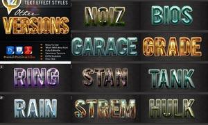 12款宝石质感的3D立体字PS样式