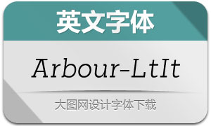Arbour-LightItalic(英文字体)