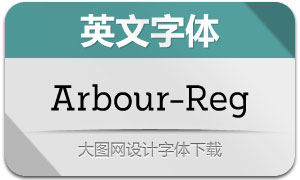 Arbour-Regular(英文字体)