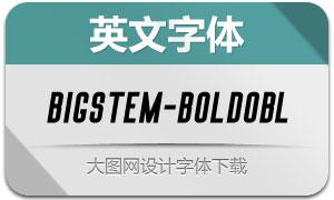 BigStem-BoldOblique(英文字体)