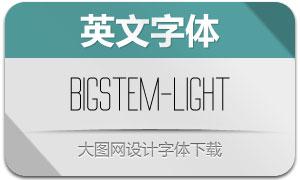 BigStem-Light(英文字体)