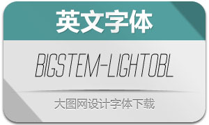 BigStem-LightOblique(英文字体)