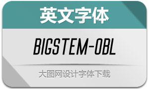 BigStem-Oblique(英文字体)