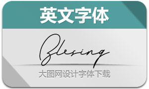 Blesing(英文字体)