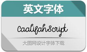 CaalifahScript(英文字体)