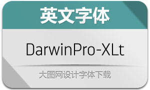 DarwinPro-ExtraLight(英文字体)