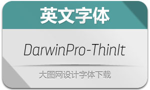 DarwinPro-ThinIt(英文字体)