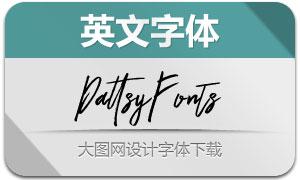Dattsy系列两款手写艺术英文字体
