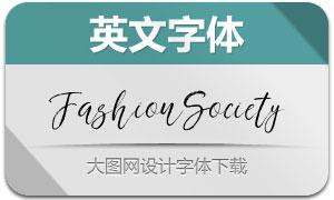 FashionSociety系列两款英文字体