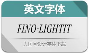 Fino-LightItalic(英文字体)