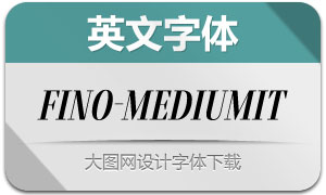 Fino-MediumItalic(英文字体)