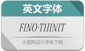 Fino-ThinItalic(英文字体)