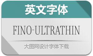 Fino-UltraThin(英文字体)