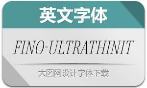 Fino-UltraThinItalic(英文字体)