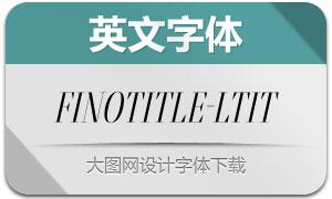FinoTitle-LightItalic(英文字体)