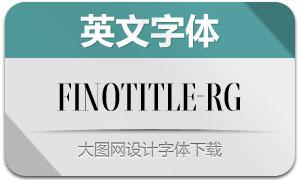 FinoTitle-Regular(英文字体)