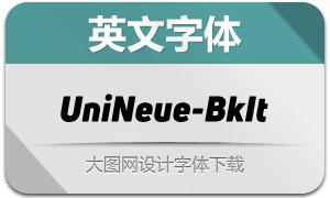 UniNeue-BlackItalic(英文字体)