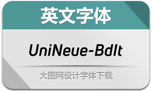 UniNeue-BoldItalic(英文字体)