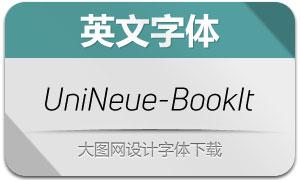 UniNeue-BookItalic(英文字体)