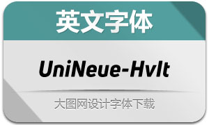 UniNeue-HeavyItalic(英文字体)