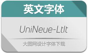 UniNeue-LightItalic(英文字体)