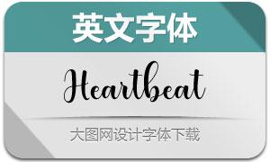 Heartbeat(英文字体)